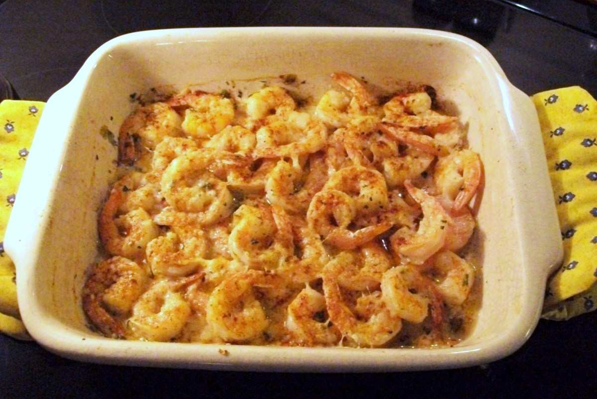 My Yellow Farmhouse Blog Cajun Garlic And Butter Broiled Shrimp