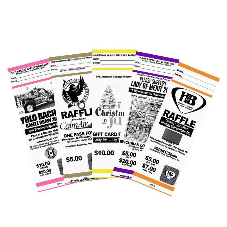Fundraising Ticket Quality  Security - myZone Printing