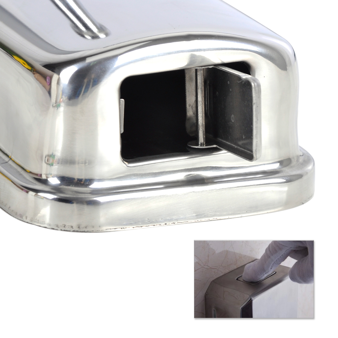 Shower Shampoo Dispenser Stainless Steel Bathroom Kitchen Stainless Steel Wall Mounted Lotion Pump