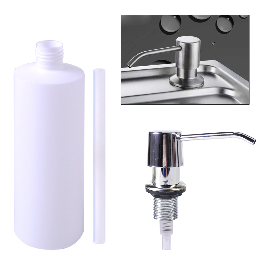 Hand Soap Bottle Holder Bathroom Sink Liquid Soap Holder Dispenser Plastic Kitchen