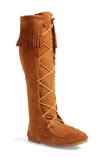 Minnetonka Knee High Moccasin Boot Men Nordstrom