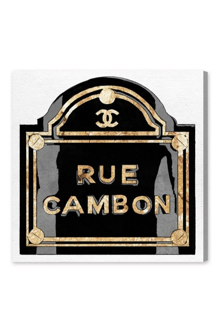 Soliver Home Oliver Gal 'rue Cambon' Canvas Wall Art | Nordstrom