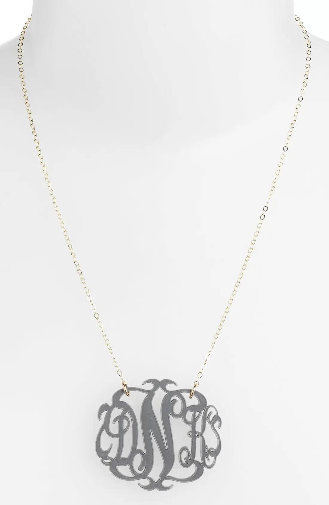 modern monogram necklace