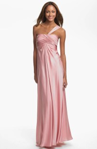 ML Monique Lhuillier Bridesmaids One Shoulder Gown ...