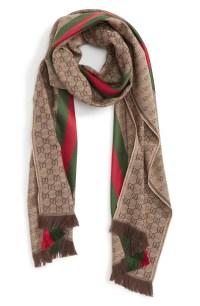 Gucci Verbier Wool & Silk Scarf   Nordstrom