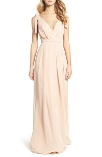 Monique Lhuillier Bridesmaids Sleeveless Deep V-Neck ...