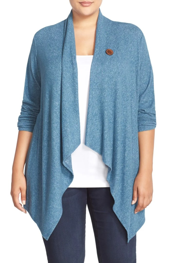 Bobeau Plus Size Clothing Bobeau One Button Wrap Cardigan (plus Size) | Nordstrom