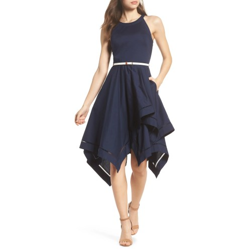 Medium Crop Of Black Fit And Flare Dress