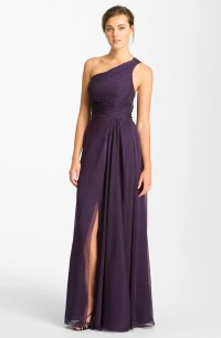 ML Monique Lhuillier Bridesmaids Pleated One Shoulder ...