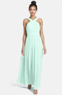 Monique Lhuillier Bridesmaids Crisscross Chiffon Gown ...