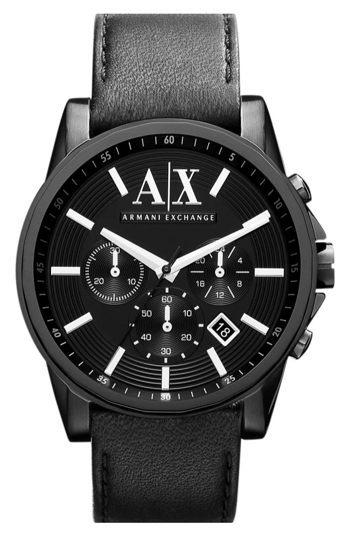 Hair Styling Devices Ax Armani Exchange Chronograph Leather Strap Watch Nordstrom
