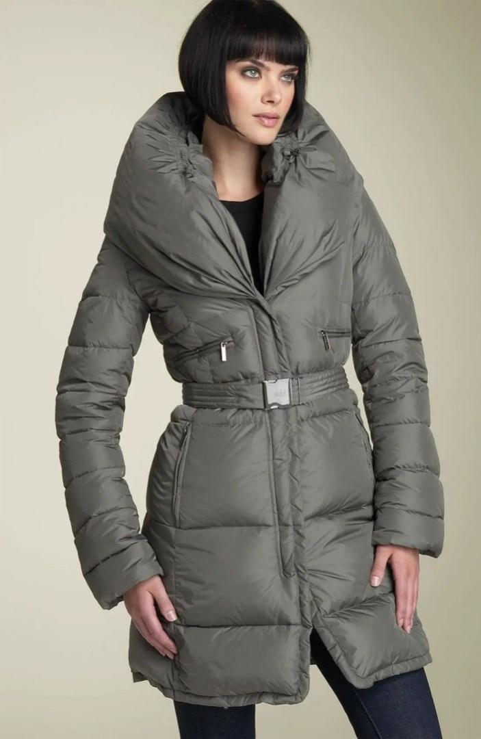 Add Down Shawl Collar Coat
