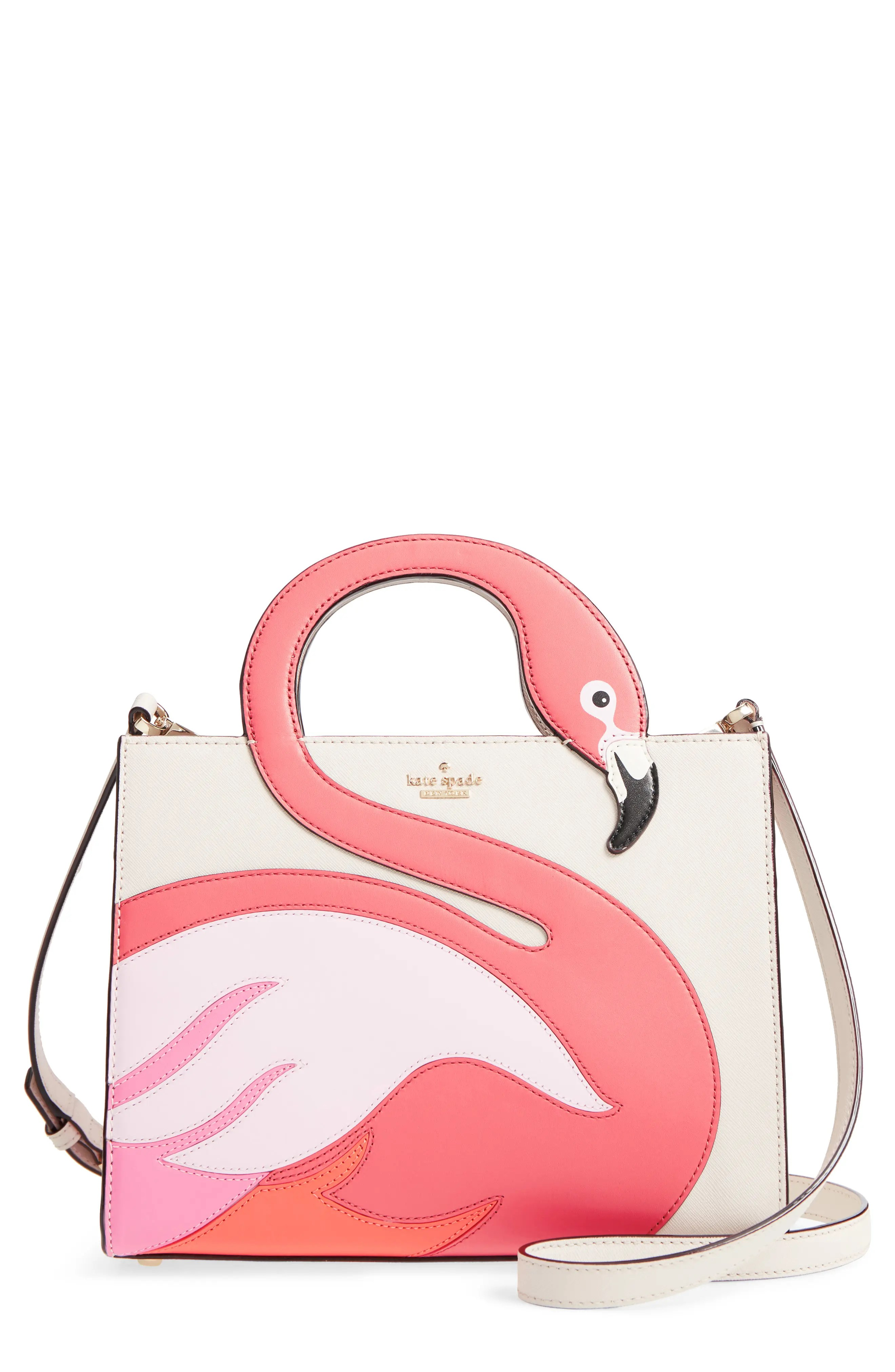By The Pool Flamingo Kate Spade By The Pool Flamingo Sam Leather Tote