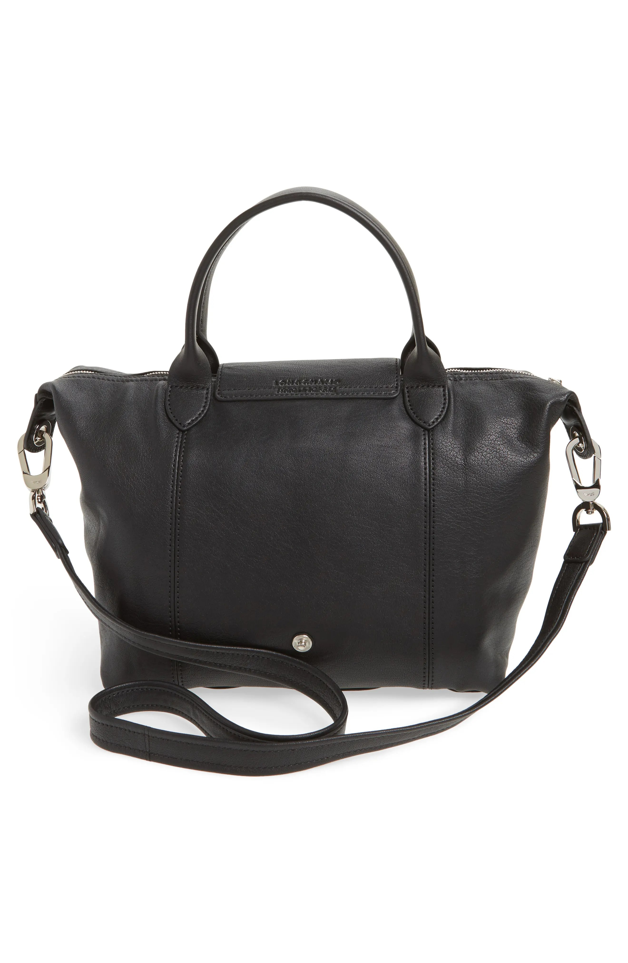 Leather Cuir Small Le Pliage Cuir Leather Top Handle Tote