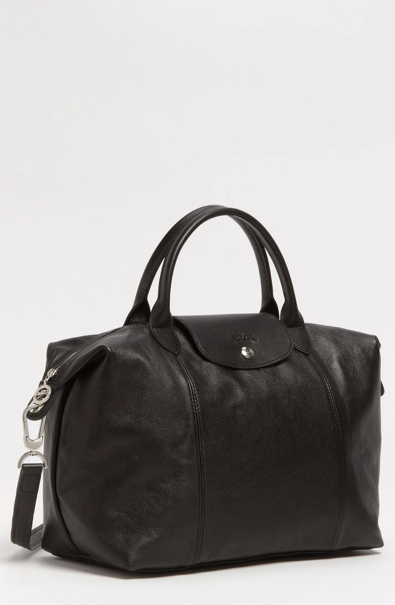 Leather Cuir Medium Le Pliage Cuir Leather Top Handle Tote