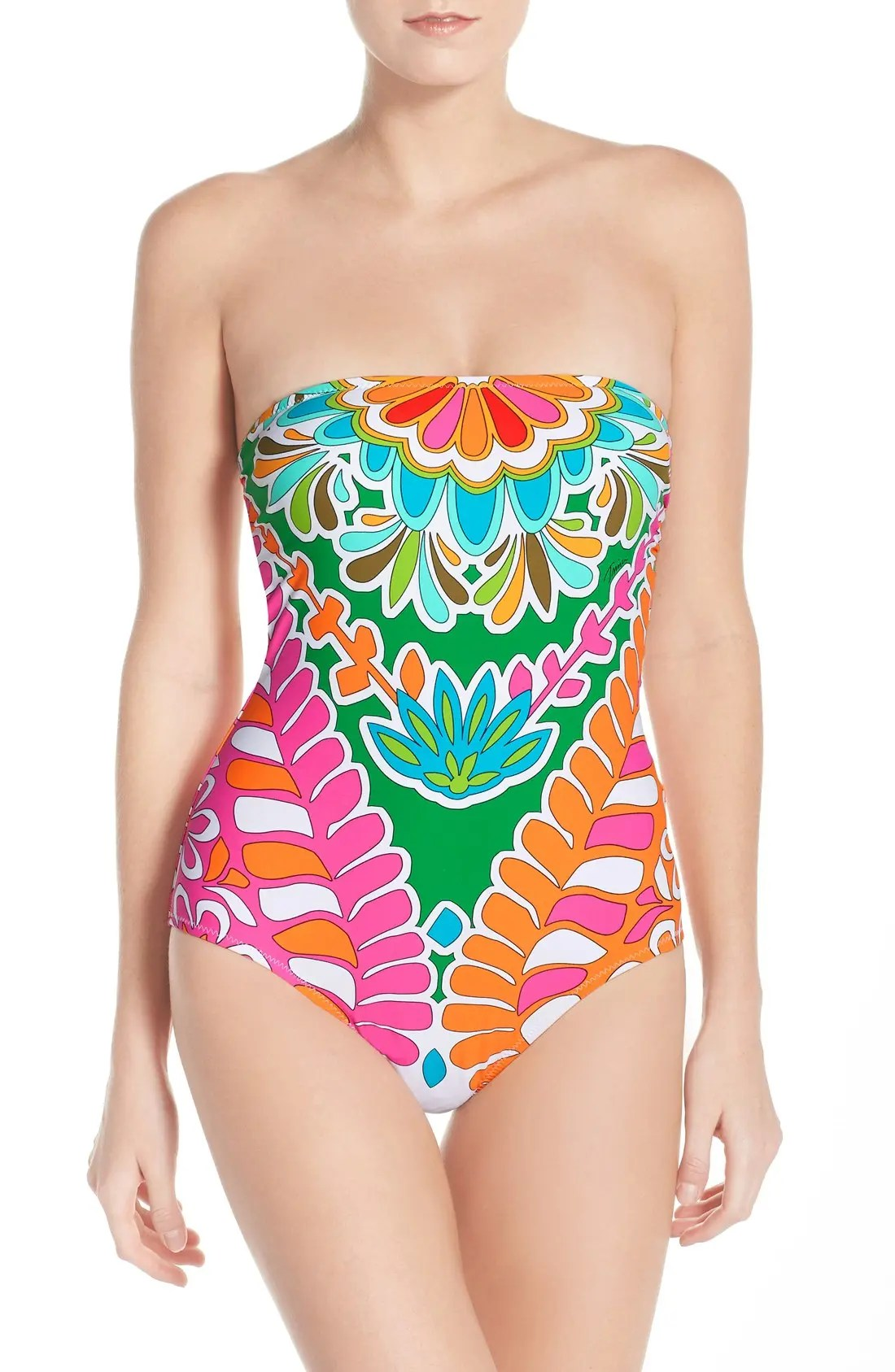 Color Tamarindo Tamarindo Convertible Bandeau One Piece Swimsuit
