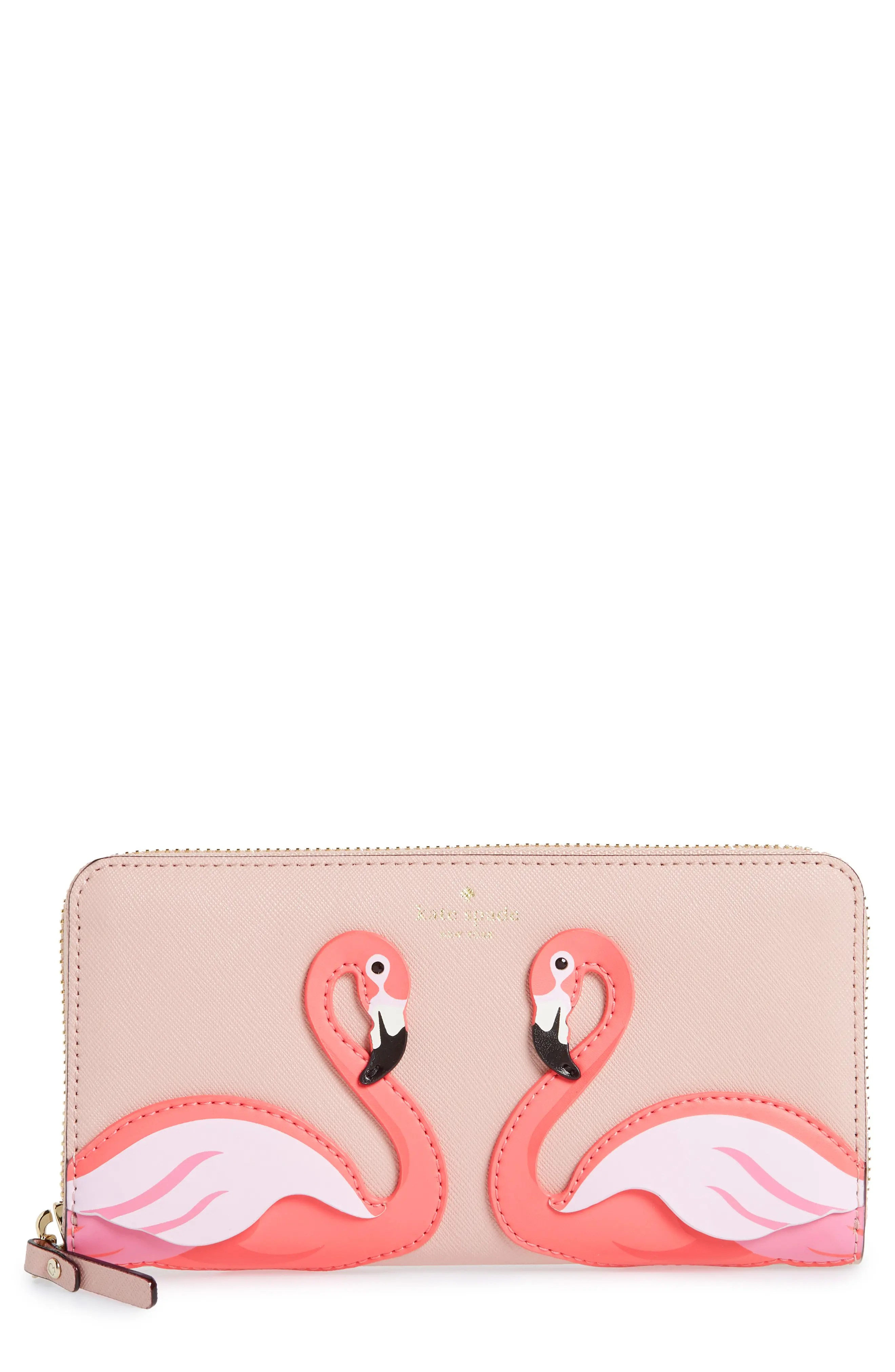 By The Pool Flamingo Kate Spade By The Pool Flamingo Lacey Leather Wallet