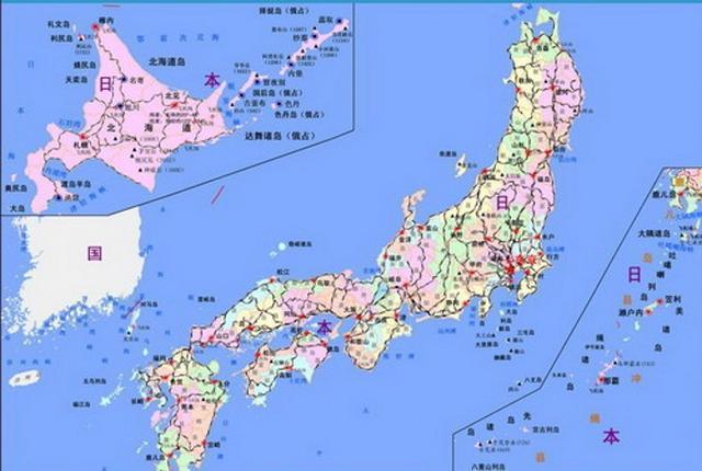 日本地圖 中文版-求一張日本地圖 中英文皆可 上面標注有日本各大主要城市...