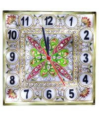 Divinecrafts Multicolor Flower Design Marble Wall Clock ...