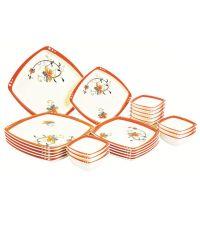 Color Home Off-white Polypropylene Dinnerware - Set Of 24 ...
