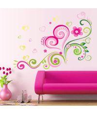 Oren Empower Fashion Design Romantic Flower Wall Sticker ...