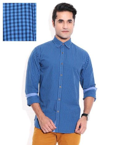Wills Lifestyle Blue Casuals Shirt - Buy Wills Lifestyle ...