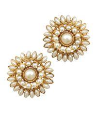 Adiva White Floral Copper Stud earrings: Buy Adiva White ...