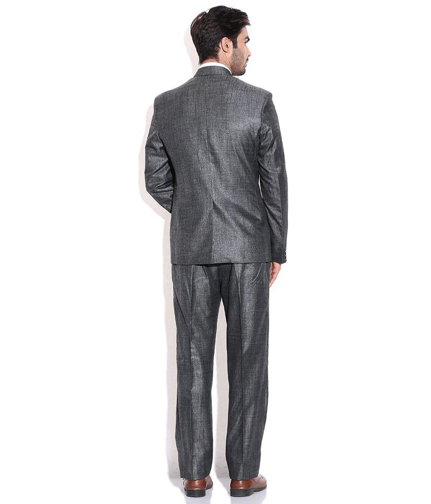 Grey Colour Formal Pant La Scoot Grey Black Colour Suiting Fabric Formal Wear Coat