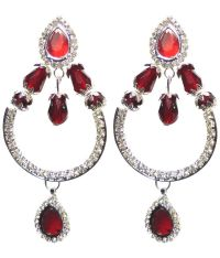 Shabnam Red Bridal Beaded Earrings - Buy Shabnam Red ...