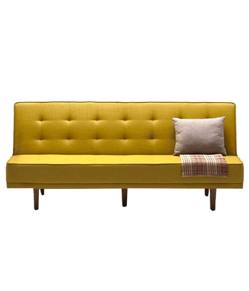 Yellow Sofa Online India Furnize Impex Alia 3 Seater Sofa Bed Yellow Buy Furnize Impex