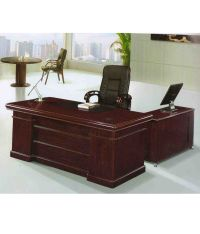 Pasco Stylish Wooden Office Table Brown Best Price in ...