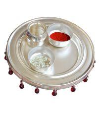 65% OFF on Rajlaxmi Silver Plated 4 Inch Pooja Thali Set ...