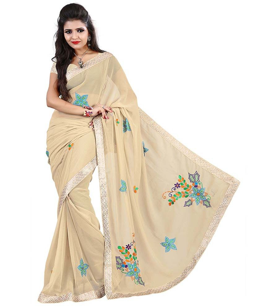 Piece Unik Unik Fashion Peach Puff Saree With Blouse Piece Buy Unik Fashion