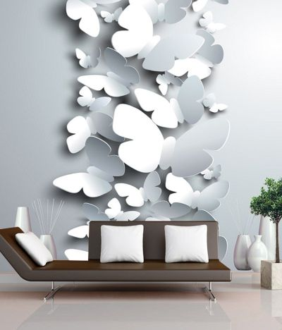 Buy FineArts Digitally Printed Wallpaper - 3D Butterflies With Printed 3D Show Pieces Online at ...
