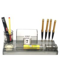 Rasper Acrylic Pen Stand Table Top With 4 Pen Holder And ...