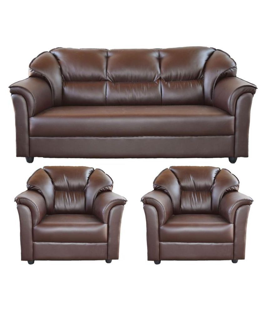 Sofa Set Price New Westido Manhattan 3 1 1 Sofa Set In Brown Leatherette Buy