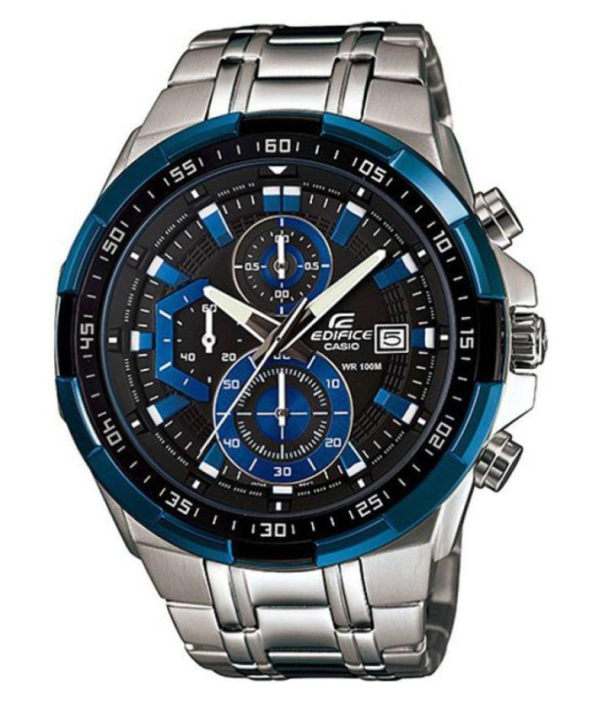Steel Watch Men Fashion Blue And Silver Stainless Steel Watch