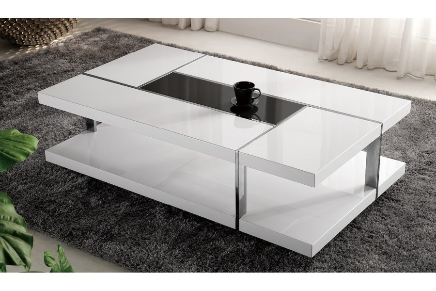 Table Basse Blanc Laque Fly