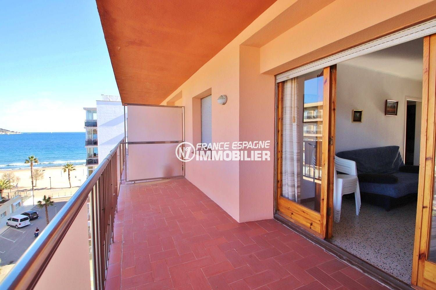 Appartement Roses Apartment Santa Margarita With Large Terrace With Sea View 50m Beach
