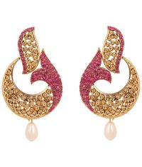 Touchstone Elegant Gold Plated Hanging Earrings - Buy ...