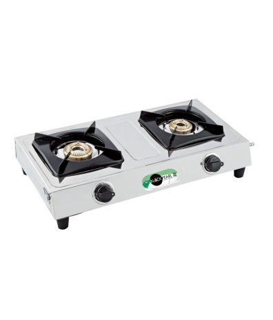 Black Pearl Plasma Double Burner Stainless Steel Gas Stove @Rs.1,050 + 51 Cashback
