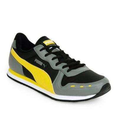 Puma Cabana Grey & Yellow Lifestyle Shoes - Buy Puma ...
