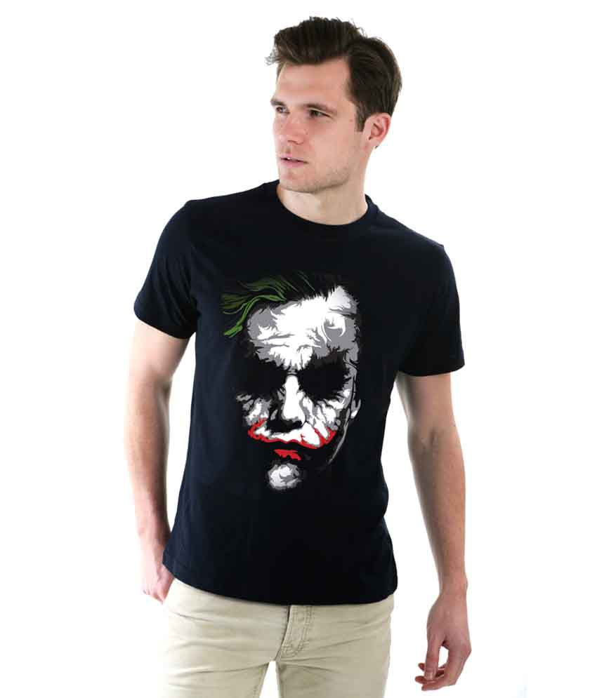Flame attractive black joker t shirt