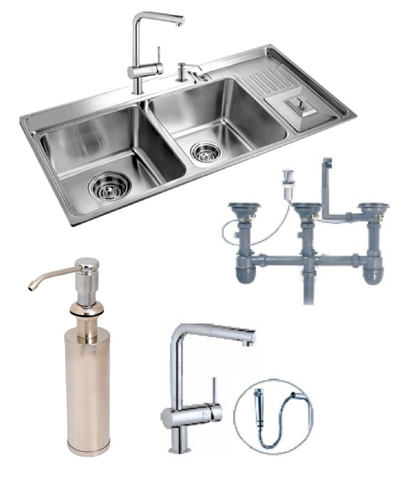 designer kitchen sinks Futura Designer Kitchen Sink FS With Free Drainer Kit Faucet With Pullout and Soap