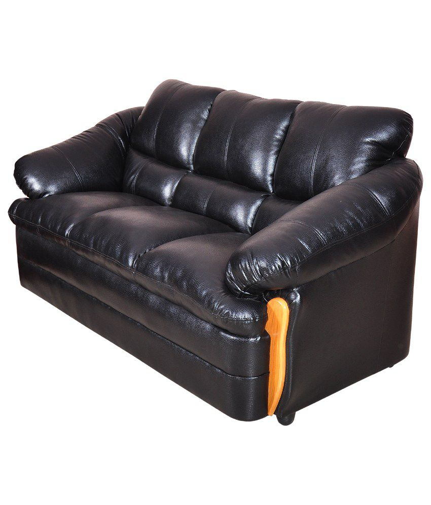 Amar Furniture Luxury Black Leather Sofa Buy Amar Furniture Luxury Black Leather Sofa Online At Best Prices In India On Snapdeal