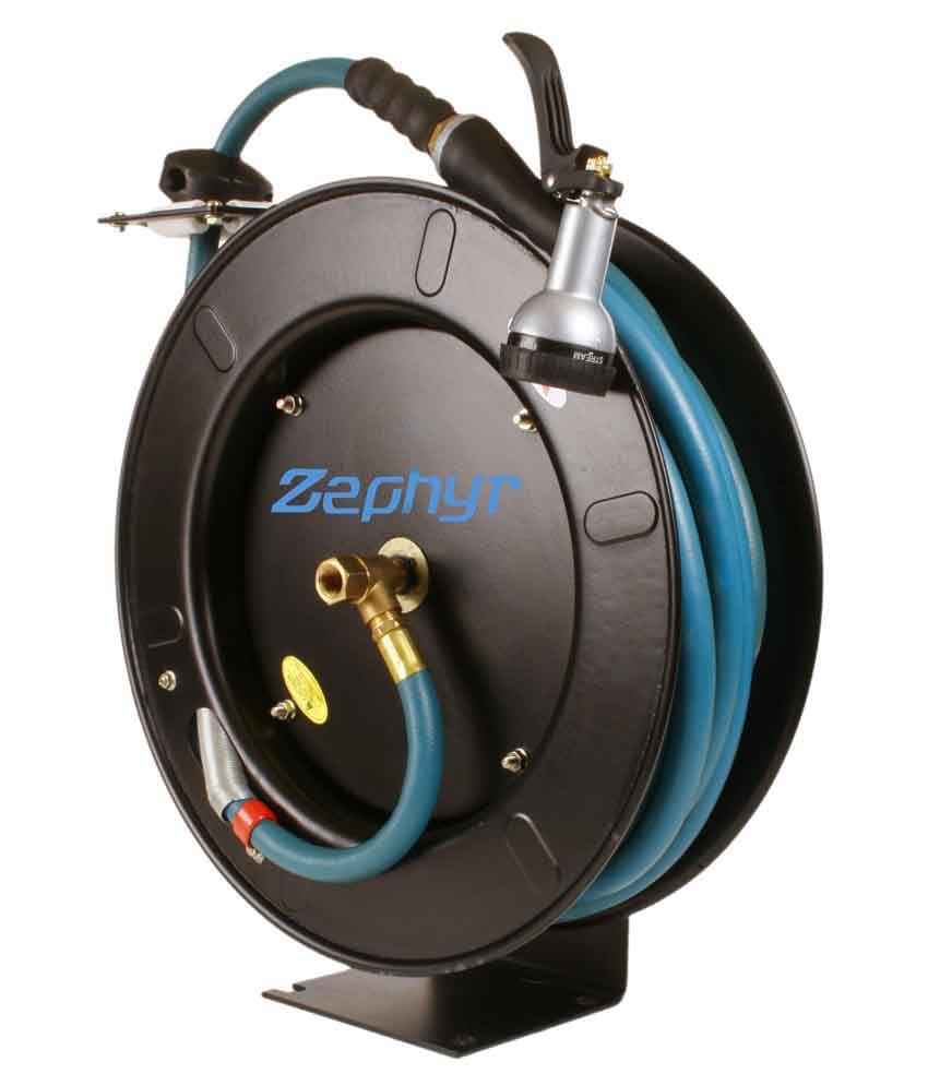 Zephyr 1/2 X 50Ft Retractable Rubber Water/Garden Hose
