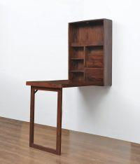 Valindor Wall Mount Study Table - @home Nilkamal, brown ...