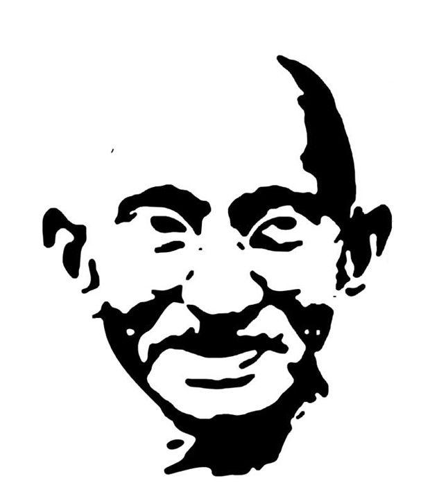 Black And White Wallpaper Decor Studio Briana Black Mahatma Gandhi Line Vector Sketch Wall