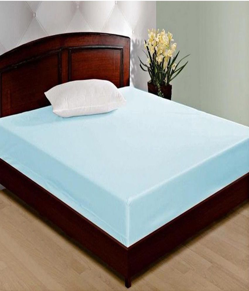 Double Bed With Mattress Deals Jbg Home Store Blue Waterproof Double Bed Mattress Cover