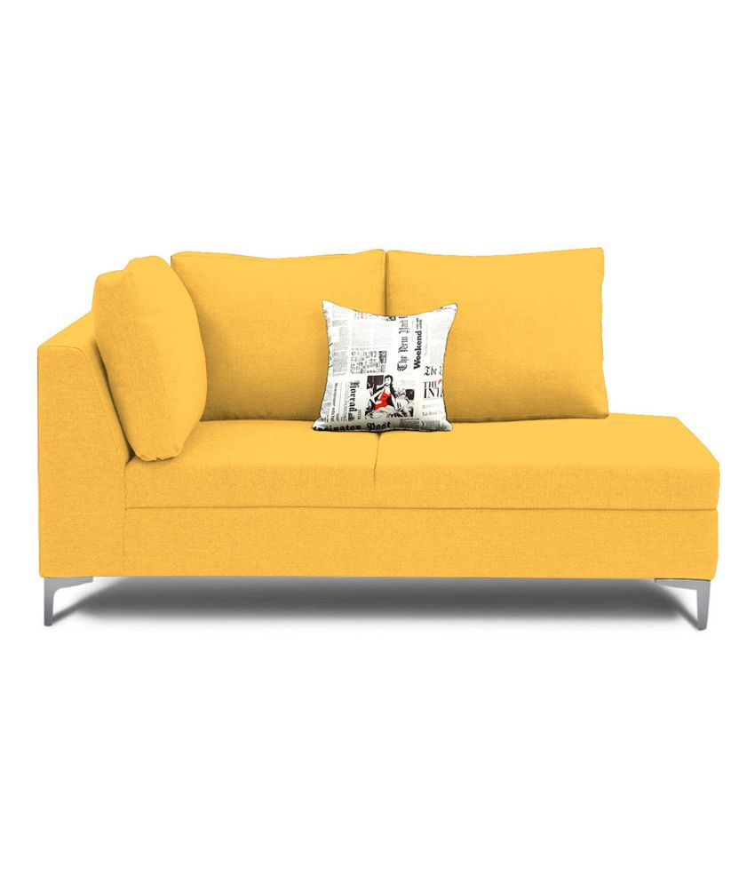 Yellow Sofa Online India Encompass Design Light Yellow Water Repellent Fabric L Shaped Sofa